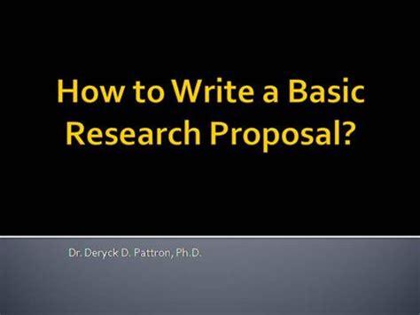 Thesis proposal powerpoint presentation